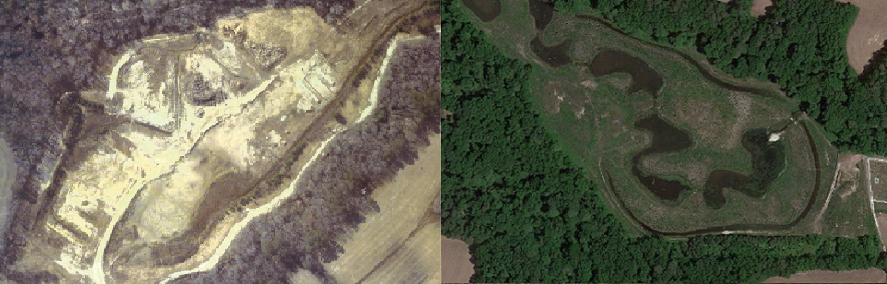 Lizzard Hill before and after