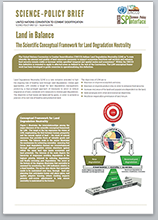 Land in balance science-policy brief